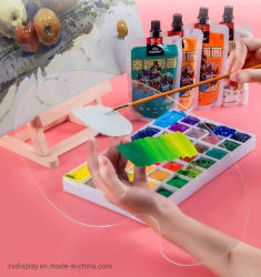 Het transparante Plastic Palet van de Verf van de Pallet van de Tekening van de Student van de Kunst Acryl