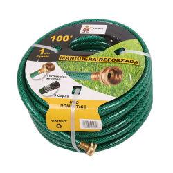 China reforzado con fibra de alta resistencia de PVC verde de la manguera de jardín para la transferencia de agua de riego- China Comprar manguera de jardín, la manguera de servicio pesado