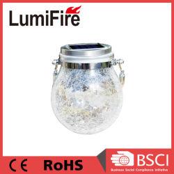 Lampada solare della lampadina di vetro del mosaico LED del giardino impermeabile chiaro solare di vetro di Crackle