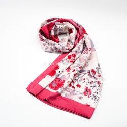 Sciarpa tessuta raso del poliestere della stampa floreale di colore completo per le signore