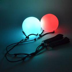 Linli glühende helle Indikator-Großhandelskugeln des Unruhe-Kugel-Spielzeug-LED Poi, Druck-Kugeln
