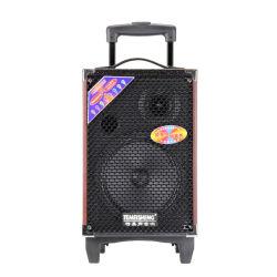 Venta caliente Temeisheng Q8s al aire libre carro portátil inalámbrico DJ altavoz con altavoz Bluetooth