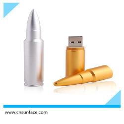 4GB 8GB 16GB 골드 Bullet Shape USB 플래시(프로모션 선물