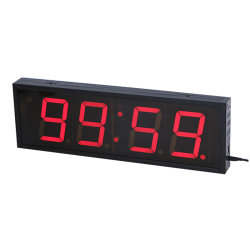 4 dígito 4 pulgadas de pantalla LED de interior reloj temporizador