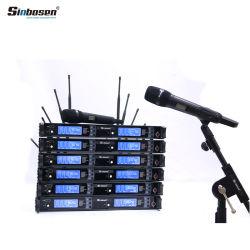 Professional Microfone Sem Fios Skm9000 Karaoke UHF Microfone Sem Fio com 2 Microfone de mão