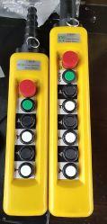 Die 6 Tasten-drücken europäischer elektrischer Hebevorrichtung-Typ Kran Richtungs-doppelte Geschwindigkeiten des Tasten-Schalter-2 von Hand ein