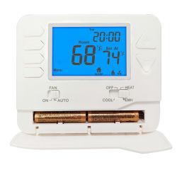 24V 2 Aqueça 1 sala de bombas de calor frio Termóstato programável para cozinha e casa de banho privada
