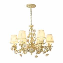 Venda por grosso Hotel Sala Estilo Rural candelabro de ouro 6 Luzes Pendente de Art Deco de armas