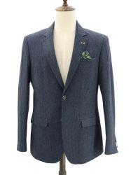 Los hombres de lana de Ajuste Personalizado Traje de chaqueta deportiva combinada de Tweed Chaqueta Blazer