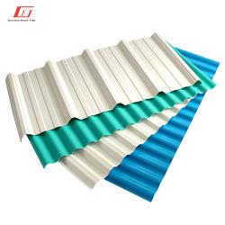 충격 저항 용이한 제조업체 골판형 플라스틱 지붕 시트 설치