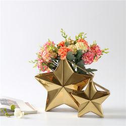 Vaso fiore con forma Gold Star per decorazioni nuziali