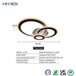 Hivies 2021 Hot vender nórdico moderno y minimalista de montaje en superficie plana y redonda Homeuse Lámparas de techo LED de interior