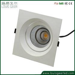 30W Inbouwspots carré LED Sharp COB, avec une grande lumière LED de sortie de lumière vers le bas