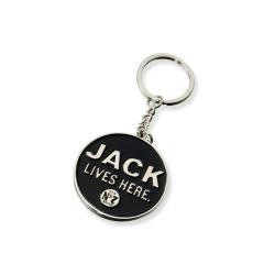 cadeau de promotion de la mode personnalisé trousseau de clés en métal