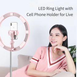 Anillo de luz LED de luz Flash Selfie Selfie Universal portátil lámpara Anillo de actualizar el teléfono móvil para teléfonos móviles en vivo de la luz de anillo de LED