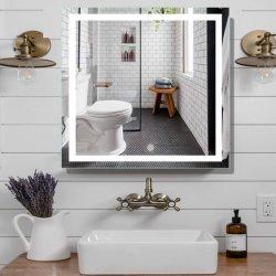 호텔 가정 장식 미러에 의하여 조명된 목욕탕 LED 미러가 Backlit 미러를 흐리게 하는 잘 고정된 장식적인 접촉 스위치에 의하여 Defogger 점화했다