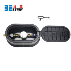 L365 Medidor de agua de plástico de nylon/caja de la caja del medidor de agua