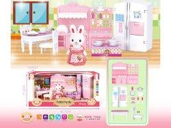 Top Kids fingir los muebles de plástico juguetes Juego 3D Mini Rabbit Casa