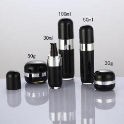 50ml Kapsel Form Kosmetik Airless Flasche für Hautpflege Lotion Paket