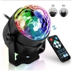 사운드 활성화 회전형 Disco Ball DJ 파티 조명 3W 3LED 크리스마스 웨딩 사운드 파티 라이드에 적합한 RGB LED 스테이지 라이트