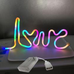 주제 테이블 램프 5V USB DIY LED 네온 등