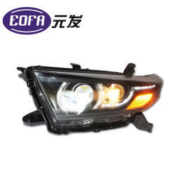 De dubbele Lichte Assemblage van de Koplamp van de Lamp van de Lens Auto VERBORG voor de Hooglander van Toyota