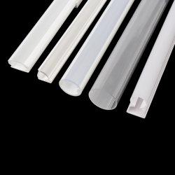 Difusor Branco transparentes OEM Extrusted plástica cobre para LED lâmpada linear