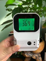 Automático de alta calidad Gran pantalla LCD con manos libres en la pared termómetro por infrarrojos