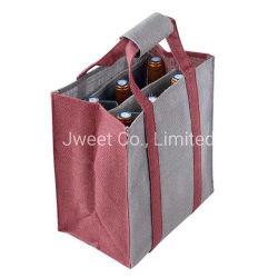 Y el yute Nonwoven Fabric vino de licor bebidas 750ml botella de vino de embalaje Bag