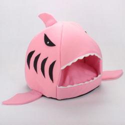 Cute Cartoon Shark chenil pour chat Chambre quatre saisons avec Soft Cat Kennel #chenil de gros de fournitures pour animaux de compagnie Les petites et moyennes Chenil quatre saisons