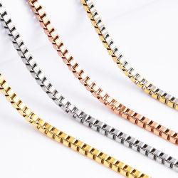Caixa banhados a ouro bracelete de aço inoxidável da cadeia de colar artesanato de jóias para homens Jóias de Design