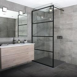 سعر الجملة الحمام الخارجي شقة مسطحة من الأسود غير اللامع يمكن المشي مصنع شاشات الدش
