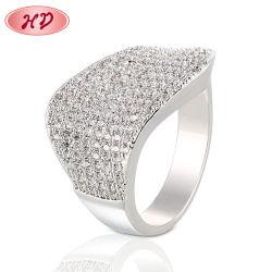 Nuovo anello di diamante operato di cerimonia nuziale di aggancio della barretta dell'oro degli uomini di disegno dei monili 18K