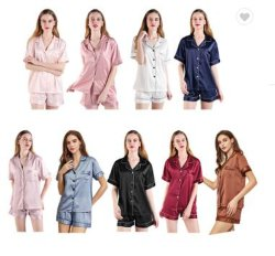 [هيغقوليتي] زفافيّ بيجامات نساء أطلس ثبت بيجامات مثير قوّة بحريّة نوع لباس