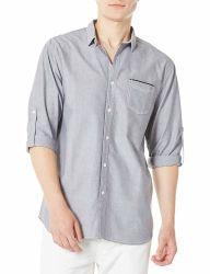 جراب طويل طويل مصنوع من القطن 100% للرجال تمت حياكته بشكل غير رسمي القميص