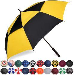 Paraguas Golf flexibles 68/62/58 pulgadas de tamaño extra grande cubierta automática de doble ventilación abierta Stick sombrillas para hombres y mujeres