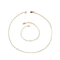 Las mujeres minimalista joyas chapado en oro 18K gargantilla de la cadena fina mujer delicado collar de perlas de agua dulce natural