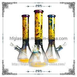 14 дюймов стакан голографических Rainbow 7мм специальный Electroplated производства оптовой стороны перегорел Hookah запаса стекла курения трубки подачи воды