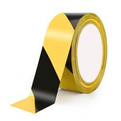 Salida de fábrica peligro amarillo negro PE/PVC cintas de advertencia