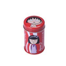 Teekanne Biscuit Süßigkeiten Runde Geschenkbox Kaffee Tee Zucker Behälter-Glas Zinn Metall