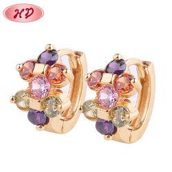 Оптовая торговля современной 24K Gold медные украшения Earring расходные материалы