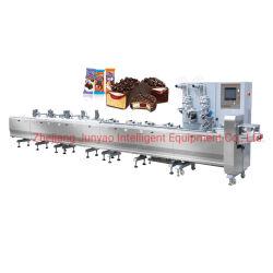 Barre de chocolat automatique d'alimentation de l'usine/barre de céréales d'enrubannage de débit de la machine gâteau de pain au chocolat Biscuits oreiller Machines d'emballage