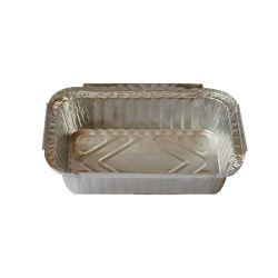 Rectangle jetables Square emporter Bacs Food Box d'aluminium de conteneurs de l'emballage alimentaire