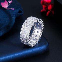 18K en alliage de cuivre plaqué Or blanc bague de fiançailles beaux Bijoux de mariée