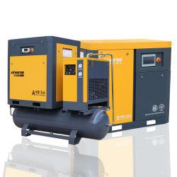 Compressor rotativo de alta de um DC tranquila parafuso portátil de compressores de ar do magneto com tanque de ar e secador para fins industriais