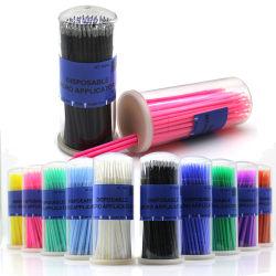 Colorido de dentista descartáveis micro fibra aplicador de ponta da escova com microescovas