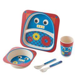 بلز الأطفال أدوات المائدة عشاء من ألياف الخيزران للأطفال