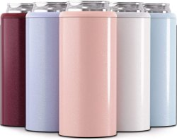 Party를 위한 새로운 12 Oz Skinny Can Cooler Double Wall Stainless Steel Can Holder