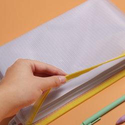 Boa qualidade de PVC transparente de simples B5 Papelaria professor aluno de Armazenamento de arquivo de documento oficial de Bag