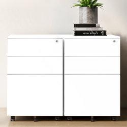 El equipo de oficina Muebles de pedestal Gabinete móvil cajón archivador archivador metálico con 3 cajones Rollendearsip Kantor Kabinet